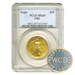 1986 $25 Gold Eagle MS69