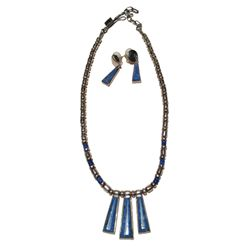Lapis Necklace & Earrings