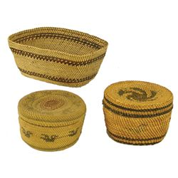 3 Nuu-Chah-Nulth Baskets