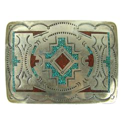 Navajo Belt Buckle - E. Tsosie