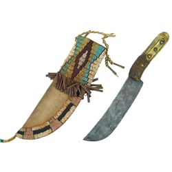 Knife & Beaded Sheath