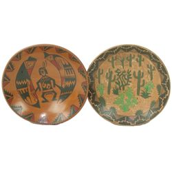 Two Mata Ortiz Pottery Dishes - Rosy Mora