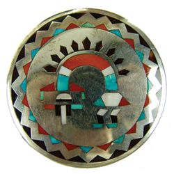 Zuni Inlay Pin/Pendant - Lolita Natachu