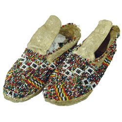 Plains Child's Beaded Moccasins