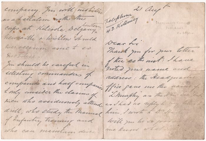 image 1 1914 outbreak of ww1 roundwood wicklow irish volunteers letters and