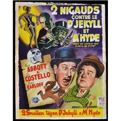 Abbott and Costello Meet Dr. Jekyll and Mr. Hyde - Original 1953 Belgian Movie Poster