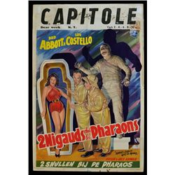 Abbott and Costello Meet the Mummy - Original 1955 Belgian Movie Poster