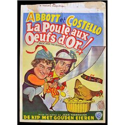 Abbott and Costello: Jack and the Beanstalk - Original 1952 Belgian Movie Poster