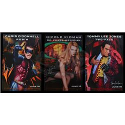 Batman Forever - Cast Signed Movie Posters