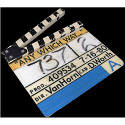 Any Which Way You Can - Production Used Clapper Board