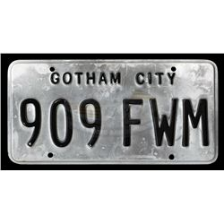 Batman Forever - Gotham City License Plate