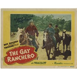 Gay Ranchero, The - Roy Rogers Autographed Lobby Card