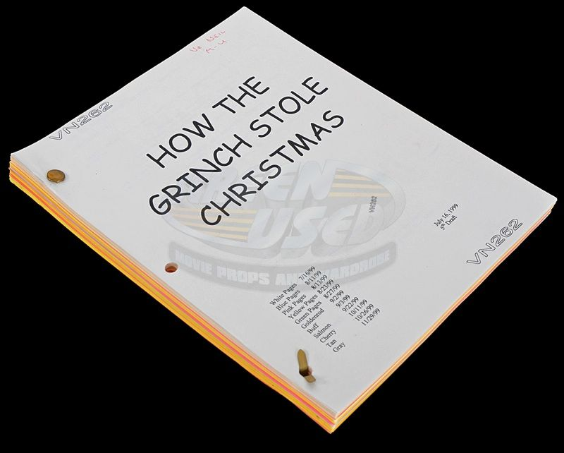 image 1 how the grinch stole christmas ve neills production script