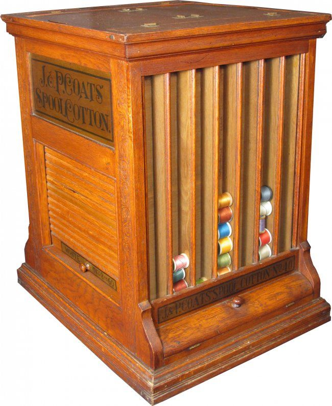 J.P. Coats Spool Cotton Thread Cabinet