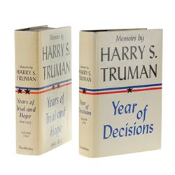 TRUMAN, Harry S. - Memoirs by Harry S. Truman, both volumes inscribed