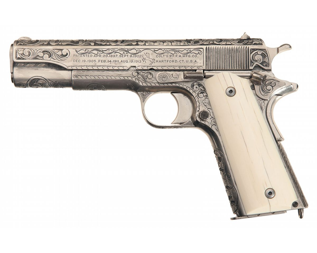 Colt 1911 Government Model Stainless 45ACP Semi Auto Pistol ...