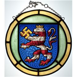 FREE STATE OF THURINGIA STAINED GLASS WINDOW