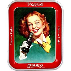 Original metal Coke Tray 1950-1952, first tray