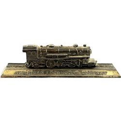 2 pc. Paper weight from American Locomotive Co.