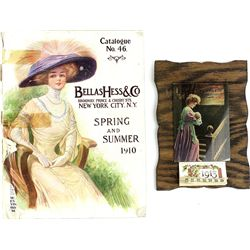 Collection of 2 includes 1913 adv. calendar