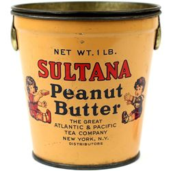 Sultana Peanut butter tin with original lid