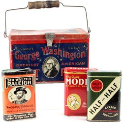 Collection of 4 tobacco tins includes