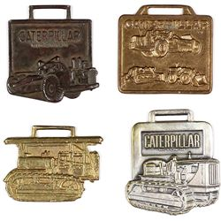 Collection of 4 Caterpillar watch fobs