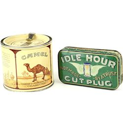 Collection of 2 tins includes Idle Hour Cut Plug