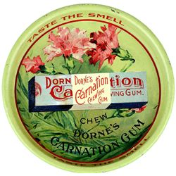 Fine antique Dornes Carnation chewing gum tip tray