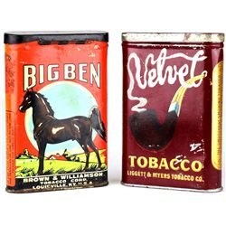 Collection of 2 tobacco tins includes