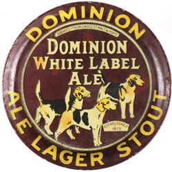 Dominion White Label Ale tip tray