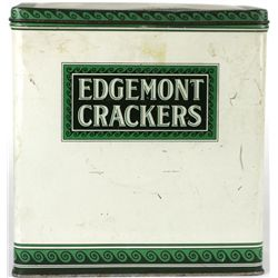 Edgemont crackers lidded  tin copyright 1924
