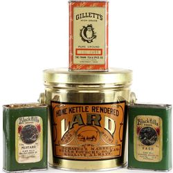 Collection of 4 tins includes