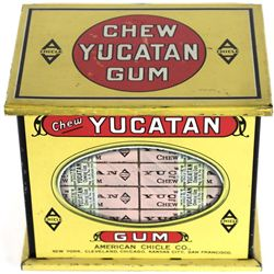 Terrific tin lithograph Yucatan Gum holder