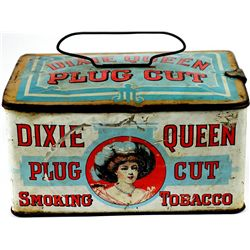 Dixie Queen Plug lidded tobacco tin