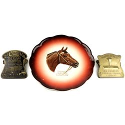 Collection of 3 includes horsehead adv. plate