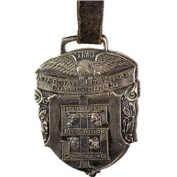 Antique advertising watch fob from marked