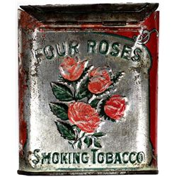 Original Four Roses flip top pocket tobacco tin