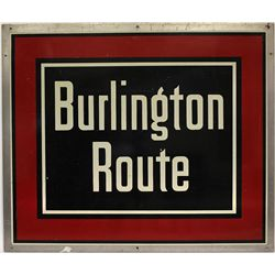 Large Burlington Route Railroad sign