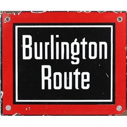 Original enamel Burlington Route sign