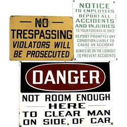 Collection of 3 metal signs includes