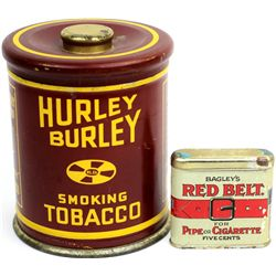 Collection of 2 tobacco tins include Hurley Burley