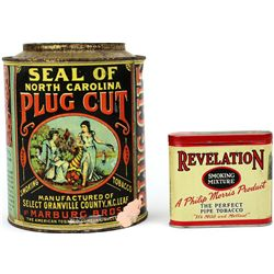 Collection of 2 tobacco tins includes Seal
