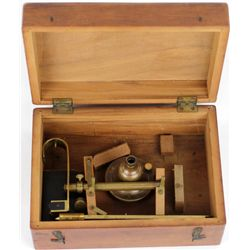 Antique cased Henry Troemner beam Scale