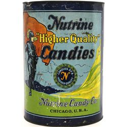 "Large Antique Nutrine Candy ""Higher Quality"