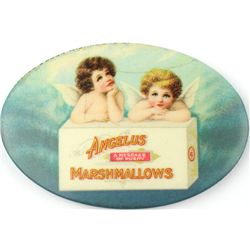 Antique celluloid advertising pocket mirror