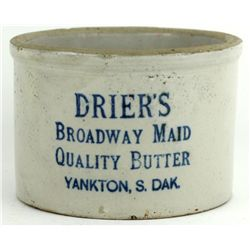 Antique Advertising Butter Crock stamped Driers