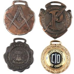 Collection of 4 watch fobs includes National Press