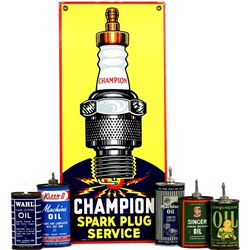 Collection of 6 includes a fine Champion Spark