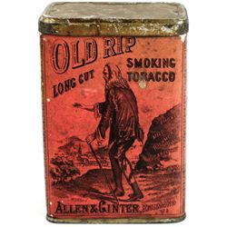 Lithograph tin Old Rip Long Cut Smoking tobacco